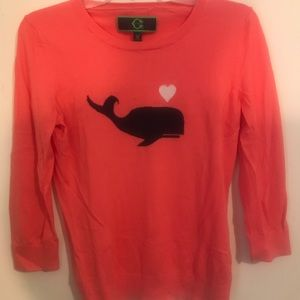 C Wonder pink whale sweater.